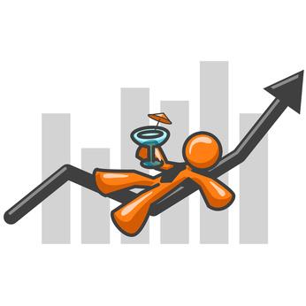Orange Man Bar Graph Good Times